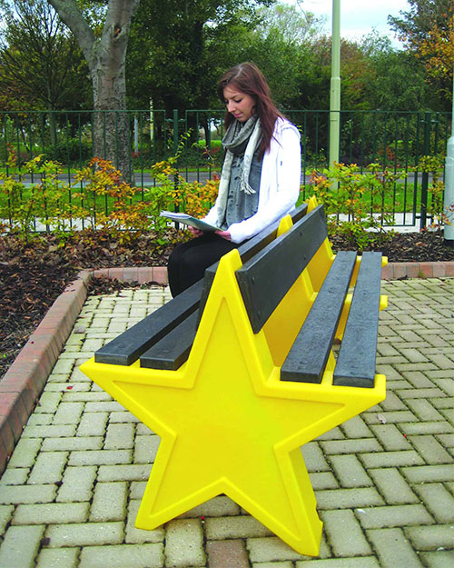 Six-Person-Double-Sided-Star-Seat-Yellow
