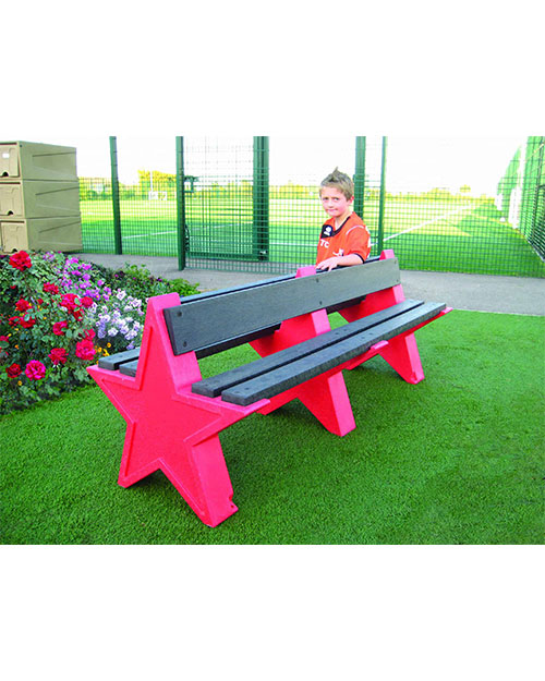Six-Person-Double-Sided-Star-Seat.-Red-Granite