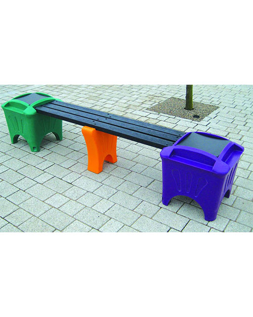 Modular-Seating-Single-Bench-Flat-Tops-Multi-Colour