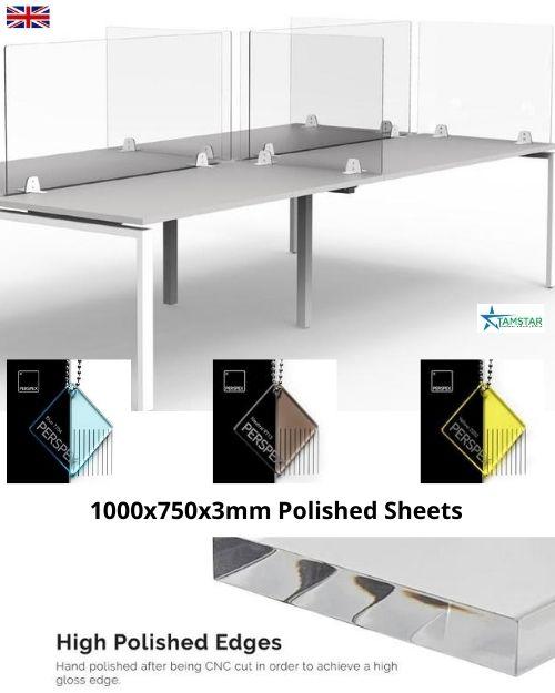Tint desk screens