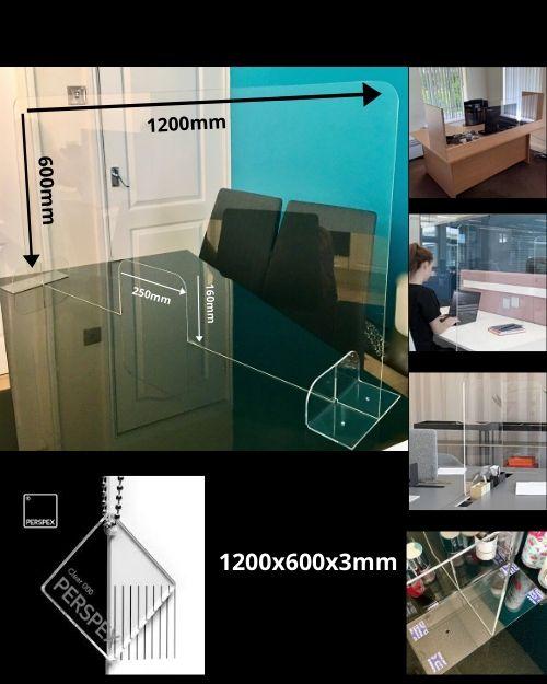 Sneeze Guard 1200x600 Desk Counter