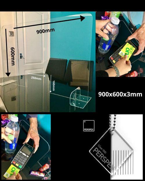Sneeze Guard 900x600 Shop Counter