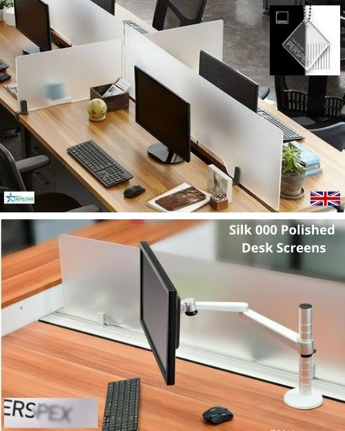 Sneeze desk screens silk