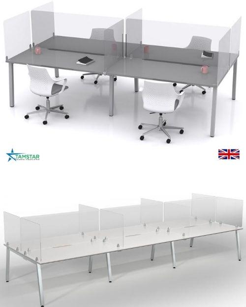 Sneeze screens for desk
